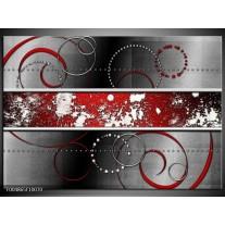 Foto canvas schilderij Modern | Rood, Grijs, Wit