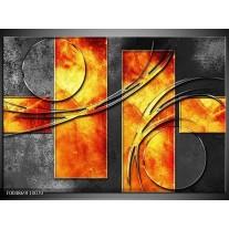 Foto canvas schilderij Modern   Geel, Grijs, Oranje