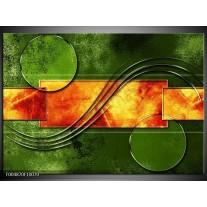 Foto canvas schilderij Modern | Oranje, Geel, Groen