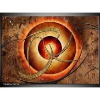 Foto canvas schilderij Modern | Bruin, Oranje