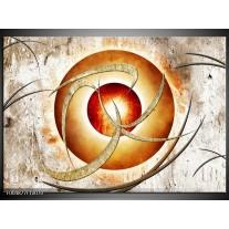 Foto canvas schilderij Modern | Wit, Oranje