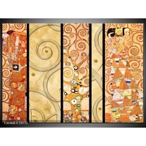 Foto canvas schilderij Modern   Geel, Bruin, Zwart