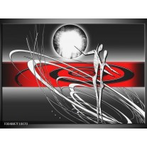 Foto canvas schilderij Modern   Rood, Grijs, Wit