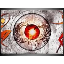 Foto canvas schilderij Modern | Grijs, Wit, Oranje