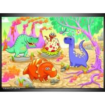 Foto canvas schilderij Sprookje | Groen, Roze, Paars