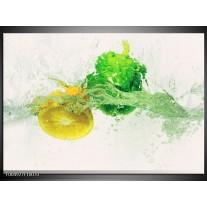 Foto canvas schilderij Keuken | Groen, Geel, Wit