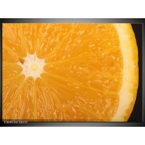 Foto canvas schilderij Keuken   Geel, Oranje, Bruin