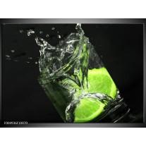 Foto canvas schilderij Keuken | Groen, Wit, Zwart