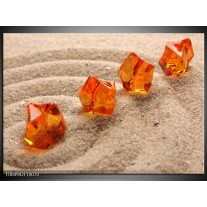 Foto canvas schilderij Zand | Bruin, Geel, Oranje