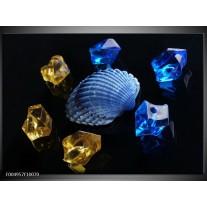 Foto canvas schilderij Spa | Blauw, Geel, Zwart