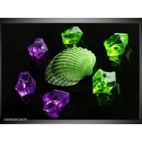 Foto canvas schilderij Spa | Groen, Paars, Zwart