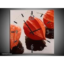 Wandklok op Canvas Spa | Kleur: Oranje, Grijs, Bruin | F004960C