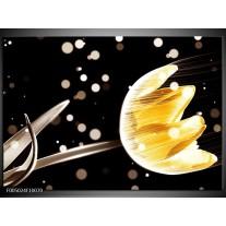 Foto canvas schilderij Tulp | Geel, Zwart