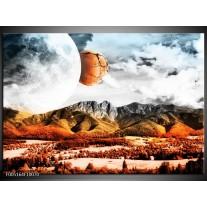 Foto canvas schilderij Natuur | Rood, Bruin, Grijs
