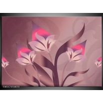 Foto canvas schilderij Modern | Paars, Roze