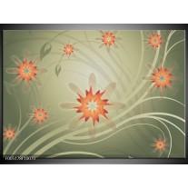 Foto canvas schilderij Modern | Bruin, Oranje, Grijs