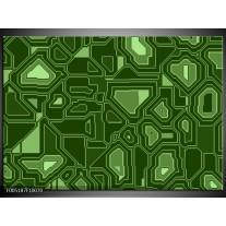 Foto canvas schilderij Modern | Groen