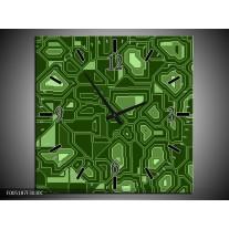 Wandklok op Canvas Modern | Kleur: Groen | F005187C