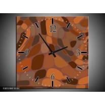 Wandklok op Canvas Modern | Kleur: Bruin | F005198C