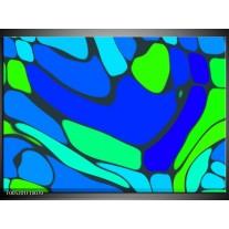 Foto canvas schilderij Modern   Blauw, Groen