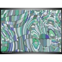 Foto canvas schilderij Modern | Groen, Blauw