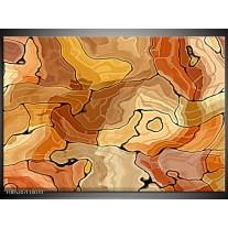 Foto canvas schilderij Modern | Bruin, Geel