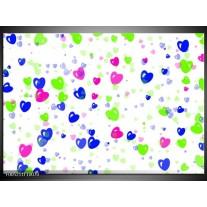 Foto canvas schilderij Modern | Paars, Groen, Blauw