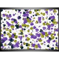 Foto canvas schilderij Modern | Paars, Groen, Wit