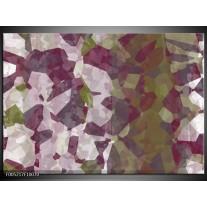 Foto canvas schilderij Modern   Wit, Paars, Groen