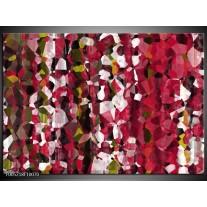 Foto canvas schilderij Modern | Rood, Wit, Geel