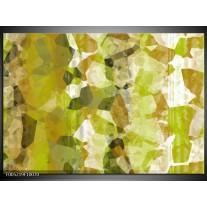 Foto canvas schilderij Modern | Geel, Groen