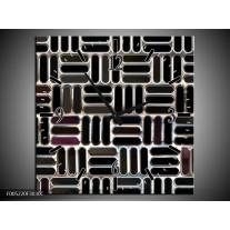 Wandklok op Canvas Modern | Kleur: Zwart, Wit, Grijs | F005220C