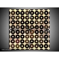 Wandklok op Canvas Modern | Kleur: Zwart, Wit, Grijs | F005223C