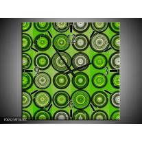 Wandklok op Canvas Modern | Kleur: Groen, Grijs, Zwart | F005234C