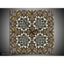 Wandklok op Canvas Modern | Kleur: Grijs, Wit | F005235C