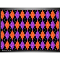 Foto canvas schilderij Modern   Oranje, Paars, Zwart