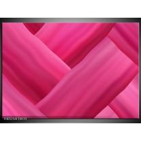 Foto canvas schilderij Modern   Roze