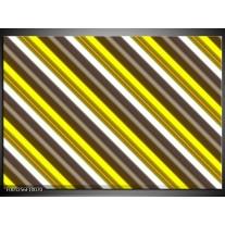 Foto canvas schilderij Modern | Geel, Zwart, Bruin