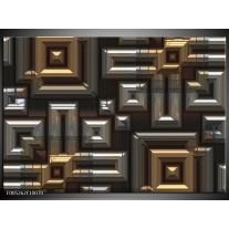 Foto canvas schilderij Modern   Grijs, Geel, Zwart