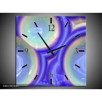 Wandklok op Canvas Modern | Kleur: Blauw, Groen | F005270C
