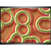 Foto canvas schilderij Modern | Groen, Rood, Bruin