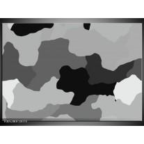 Foto canvas schilderij Modern | Grijs, Zwart, Wit