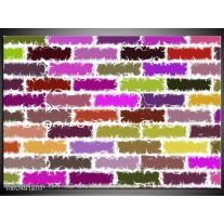 Foto canvas schilderij Modern | Paars, Groen, Geel