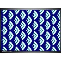 Foto canvas schilderij Modern | Blauw, Wit