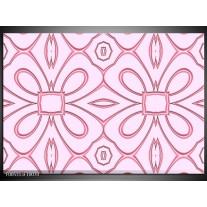 Foto canvas schilderij Modern   Roze, Grijs