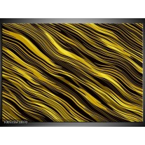Foto canvas schilderij Modern | Geel, Zwart, Goud