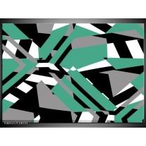 Foto canvas schilderij Modern | Groen, Wit, Grijs