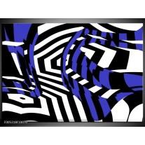 Foto canvas schilderij Modern   Blauw, Zwart, Wit