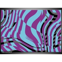 Foto canvas schilderij Modern   Blauw, Paars, Zwart