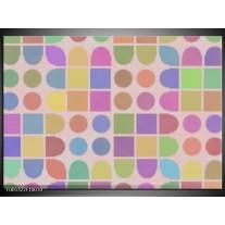 Foto canvas schilderij Modern | Roze, Blauw, Groen